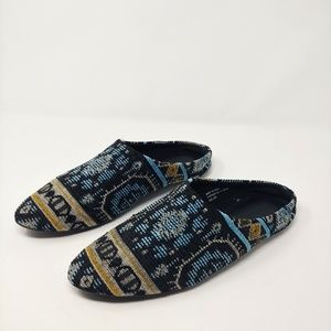 UO Urban Outfitters Fabric Mules Slides Aztec